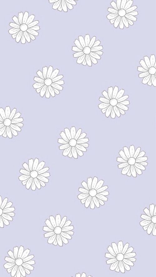 Wallpaper Background Tumblr Pastel Purple Flowers