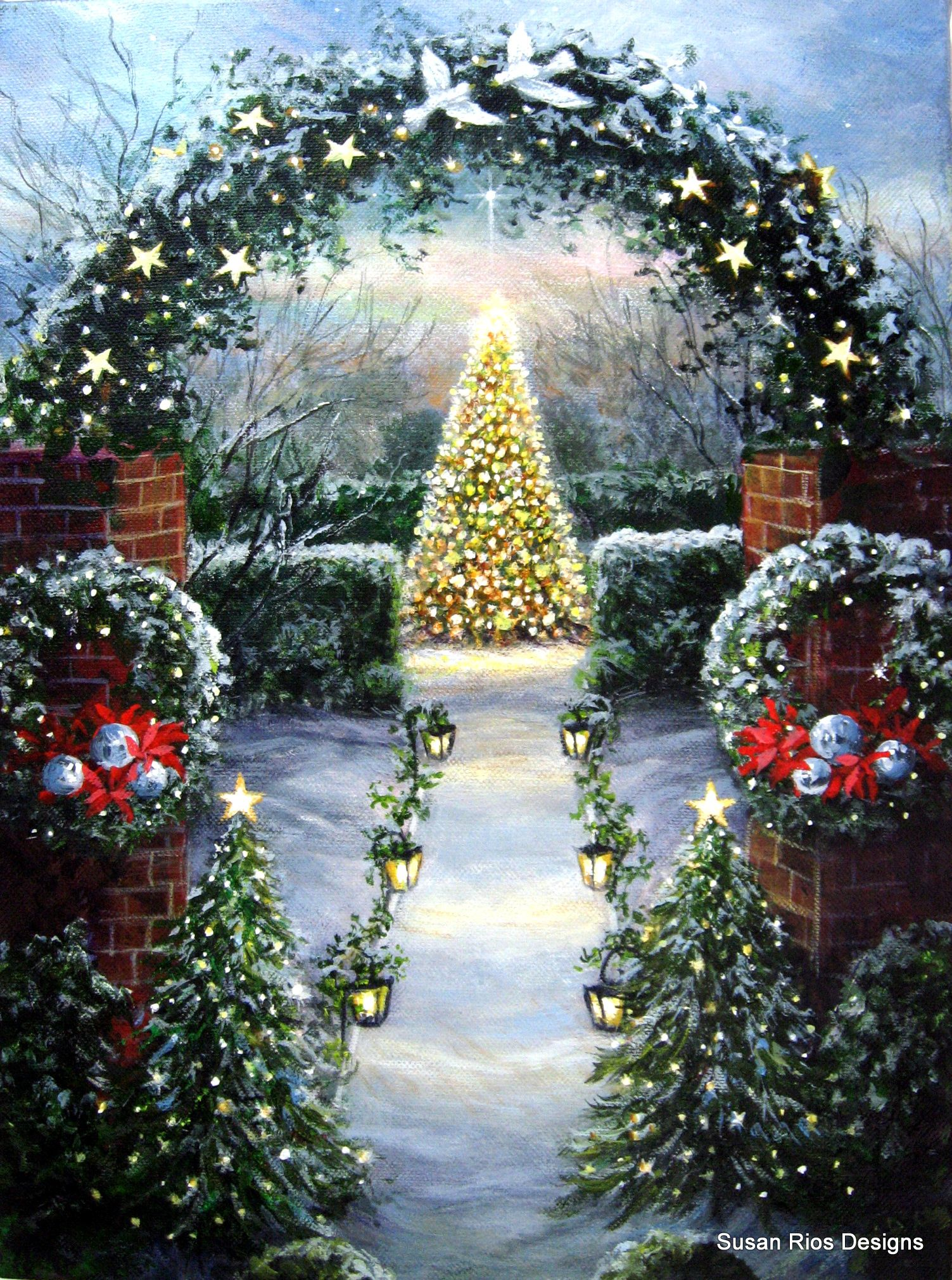 A New Christmas Painting Oh Holy Night Christmas