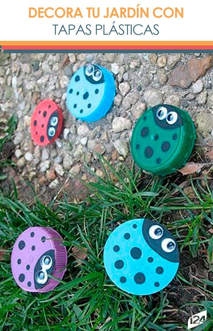 Proyecto de reciclaje bonitas mariquitas para el jard n for Ideas decoracion reciclaje