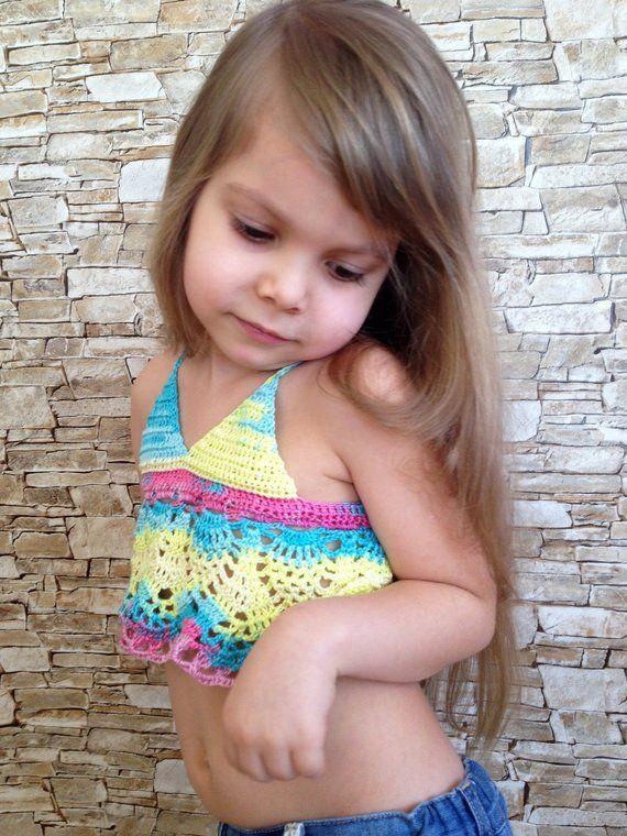 Pin de ElenaVorobey en For toddler girl | Top boho, Ropa