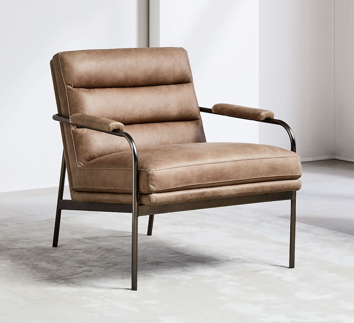 Score 300 Off This Handsome Leather Chair Living room