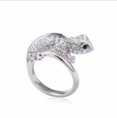 anneau de gros lézard anneau cmr006 maison sauvagefish bague bijoux de mode punk
