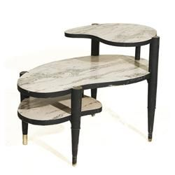 Atomic 1950 S Kidney Shaped 3 Tier Side Table With Marble Formica Top With Images Table Coffee Table Side Table