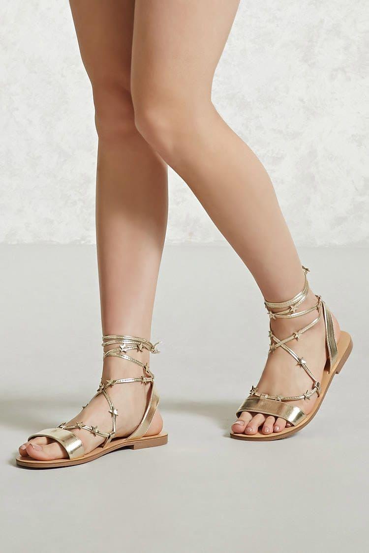 b741ae7d Sandalia Metalizada - Mujer - Zapatos - Sandalias + Alpargatas - 2000238839  - Forever 21 EU Español