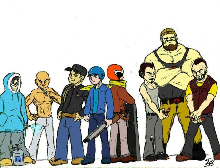 Megaman, Protoman,  and the Masters - $5