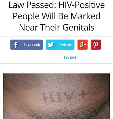 Ele & Elis Blog: HIV-Positive People Will Be Marked Near Their Geni...