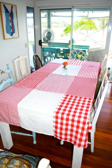 Make a dishtowel tablecloth the diy adventures upcycling the diy adventures upcycling recycling and do it yourself from around the world solutioingenieria Gallery