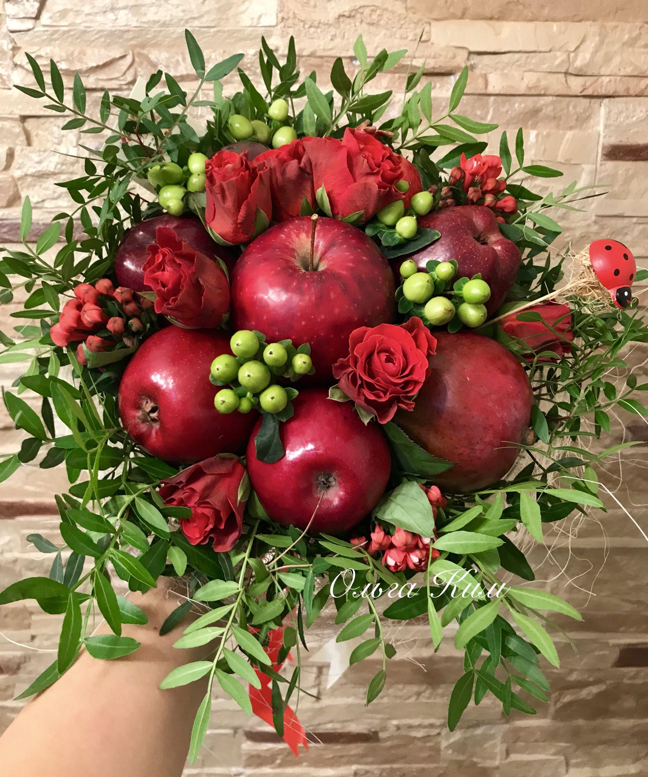 Поздравление фруктовым букетом фото 463