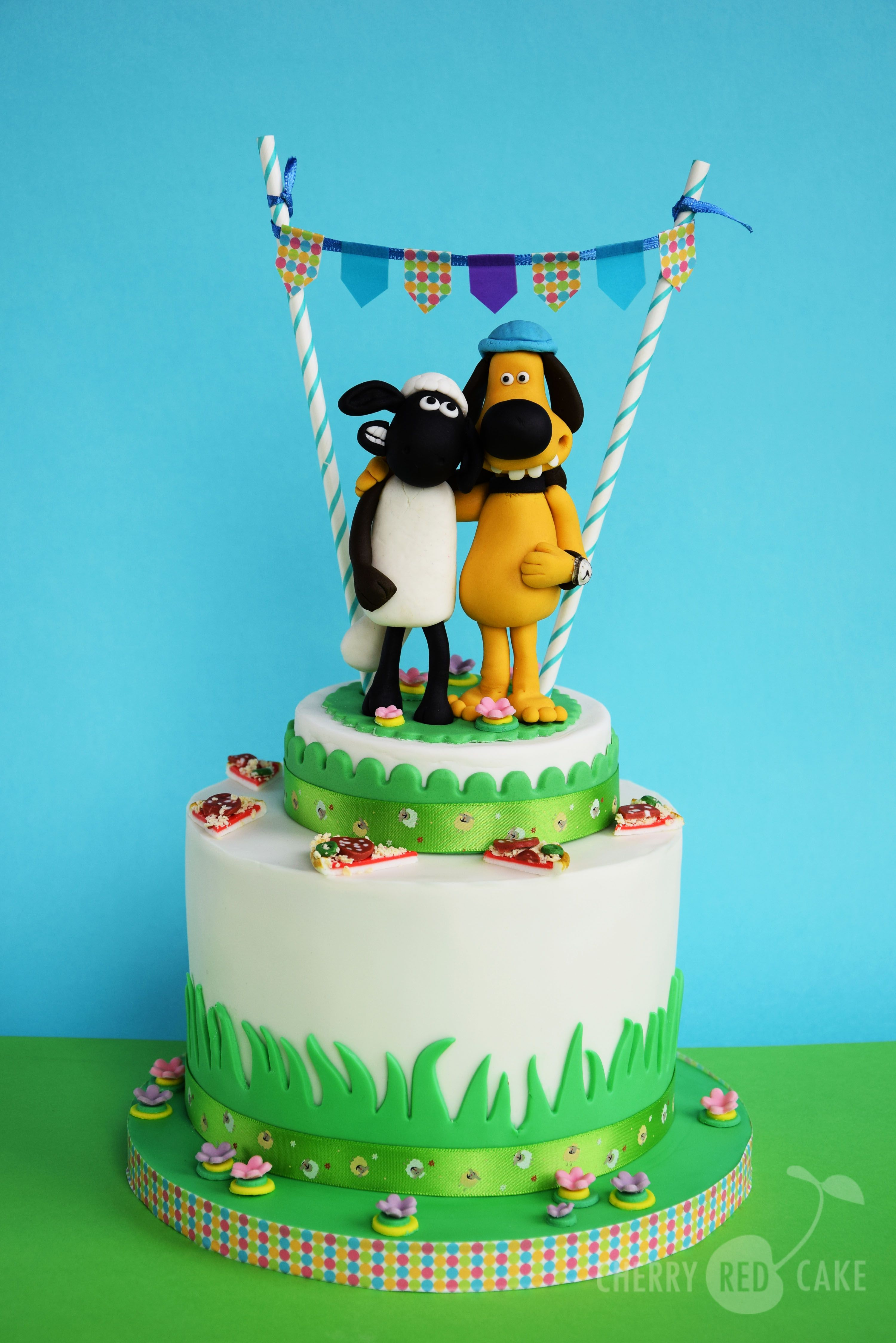 Shaun the sheep cake Cherry Red Cake Pinterest – Shaun the Sheep Birthday Card