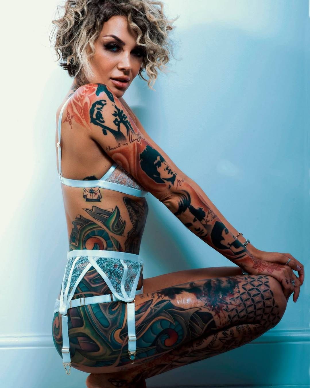 Pretty tattoo model Eric Liyah Kane, photo by Maffster from