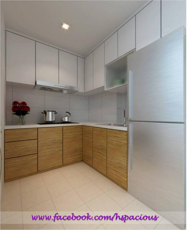 HDB L-shape Kitchen Cabinet