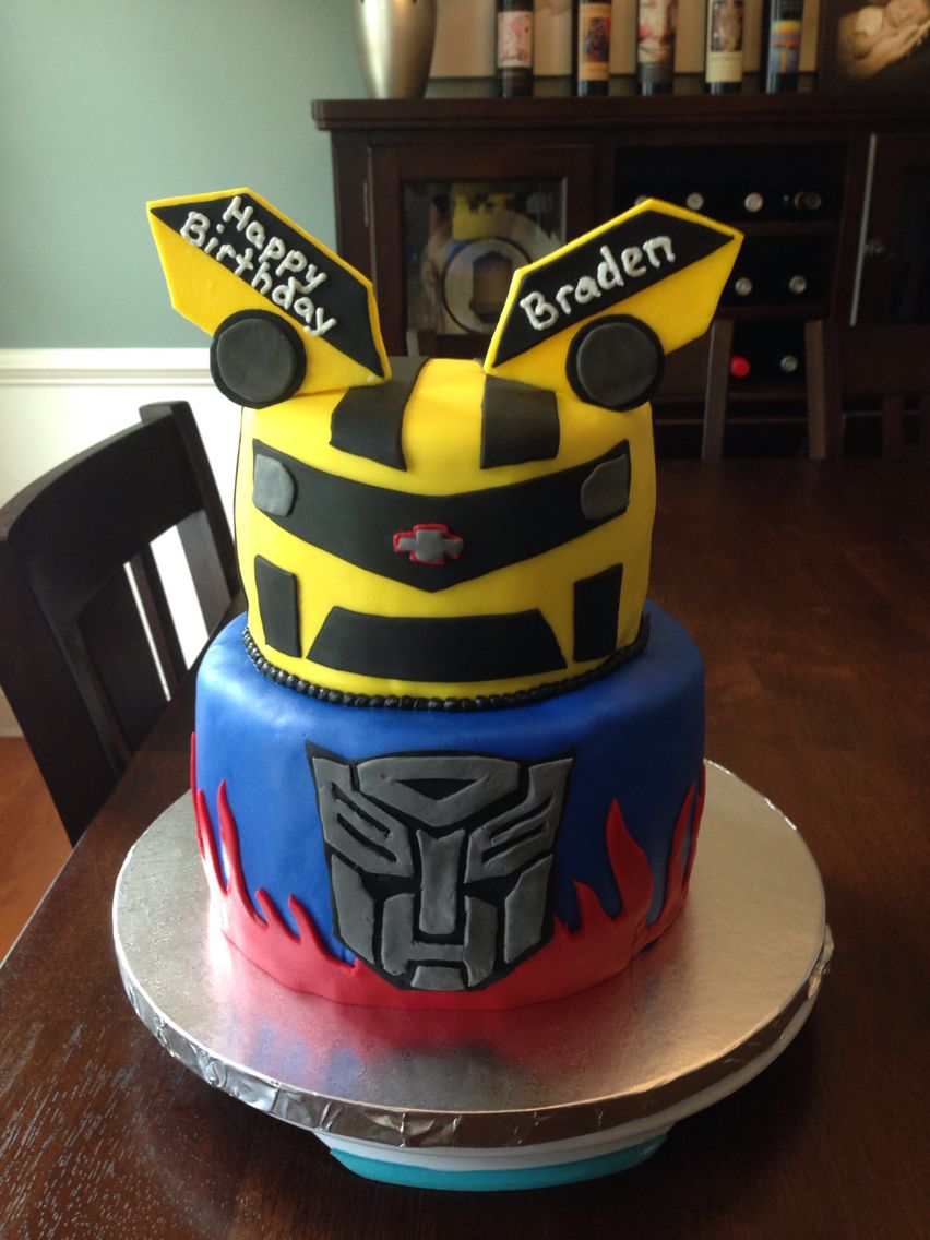 transformer cake ideas transformer optimus prime bumblebee cake cake ideas 8051