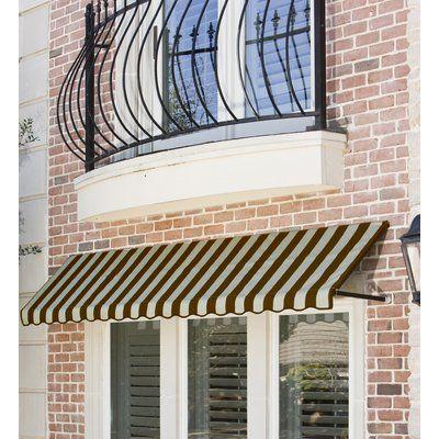 Awntech Dallas Retro Fabric Standard Window Awning ...
