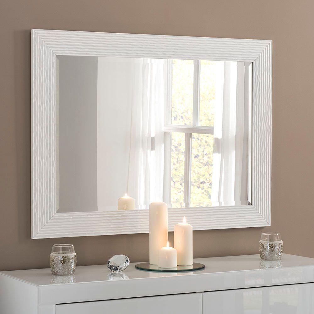 Yg223 White Rectangular Wall Mirror