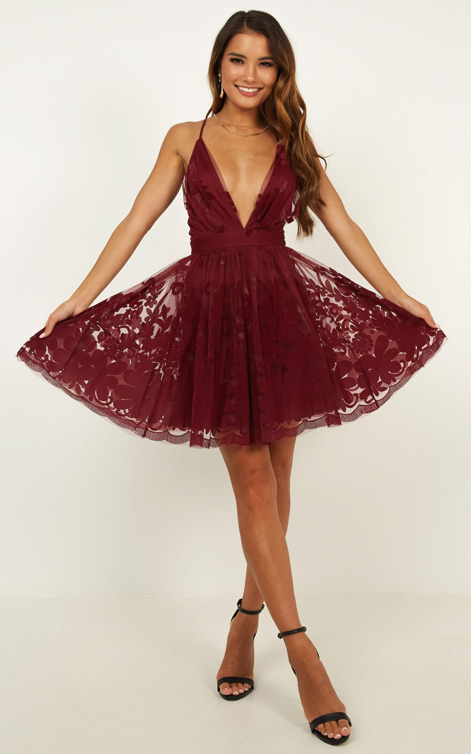 Moon Beam Dress In Wine Showpo Dresses Hoco Dresses Showpo