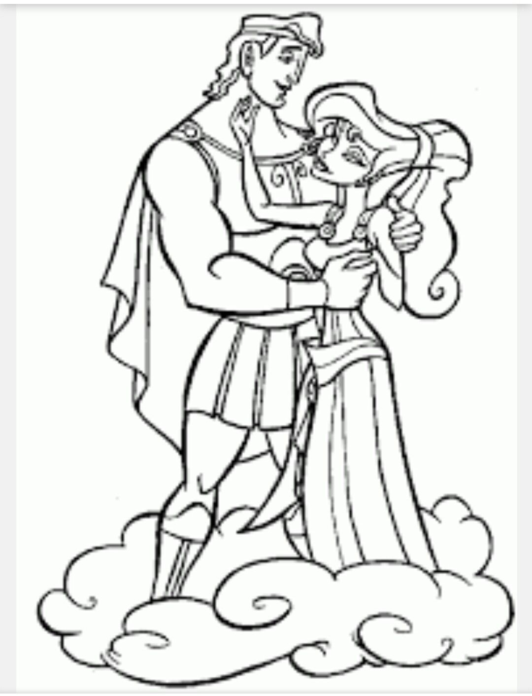 Hercules And Meg Coloring Sheet Disney Coloring Pages Cartoon Coloring Pages Disney Princess Coloring Pages