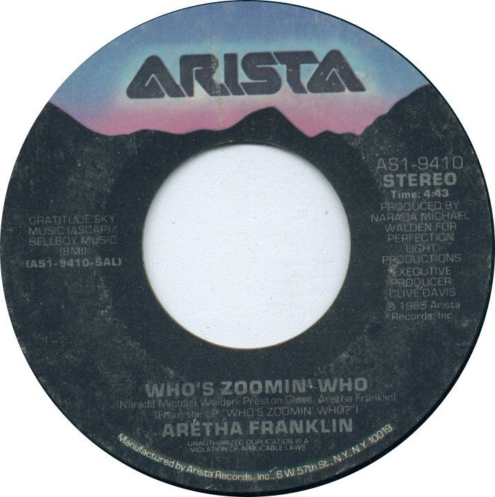 Who S Zoomin Who By Aretha Franklin Aretha Franklin 45 Records