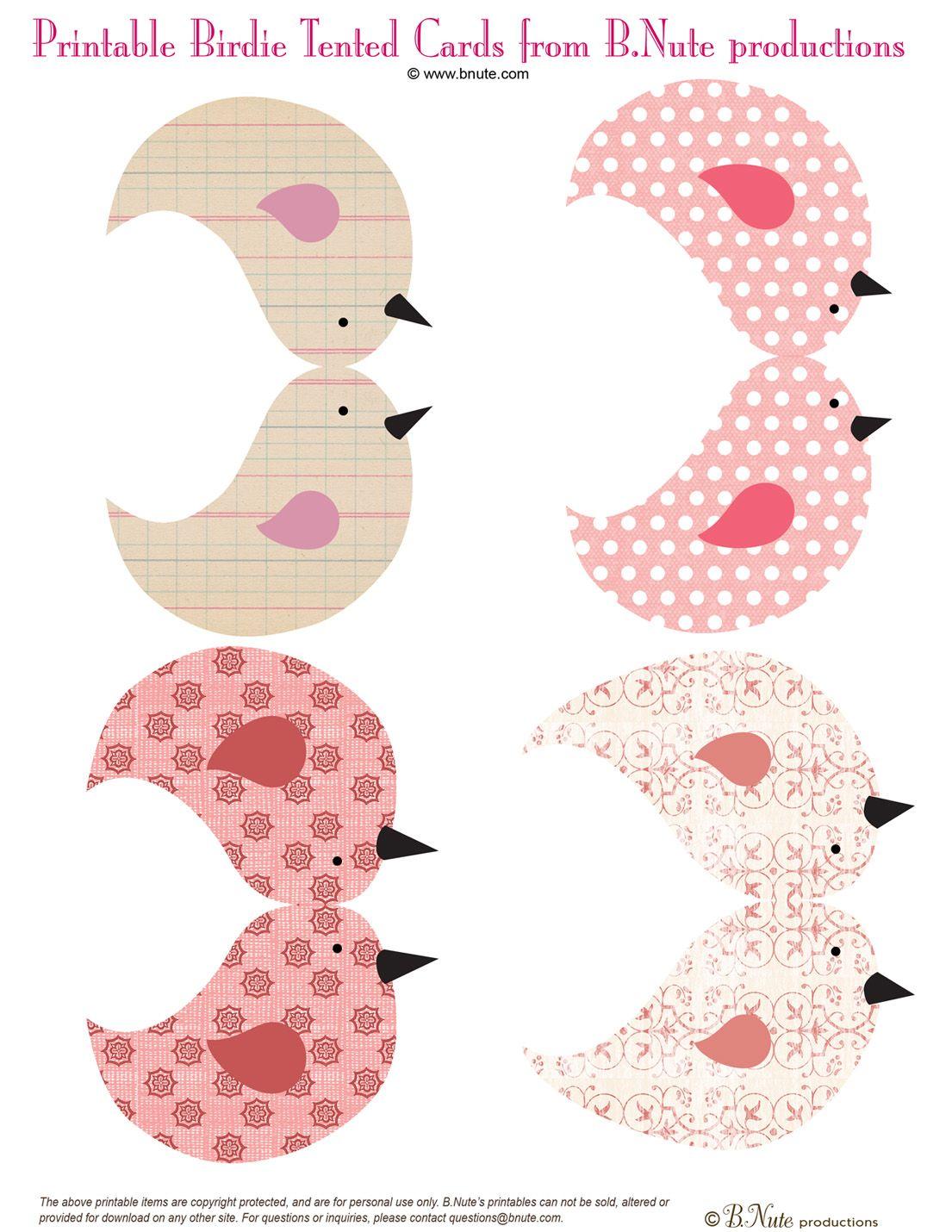 producciones bnute: Gratis para Imprimir birdies y Birdie House | Z ...