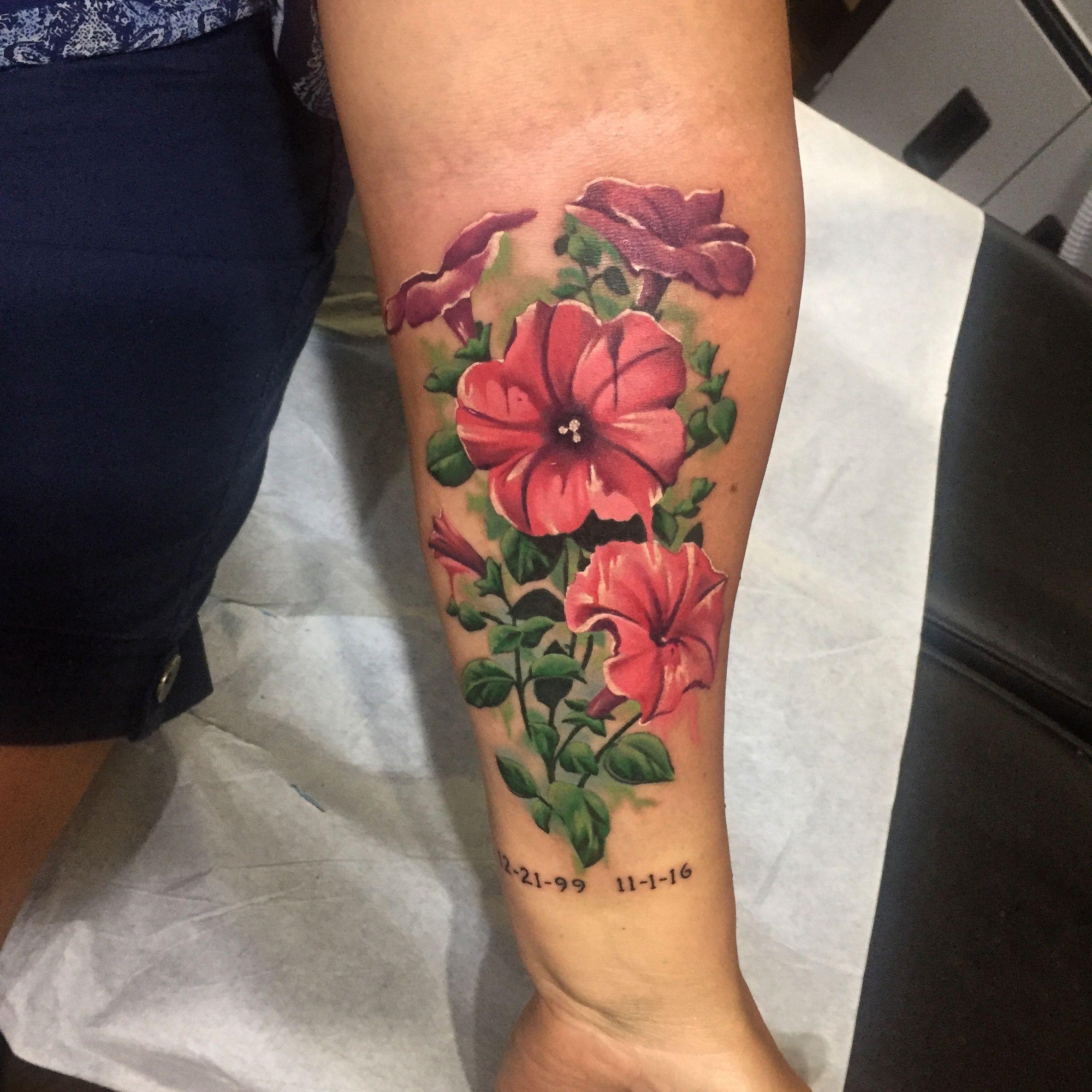 Petunia Tattoo Petunia Tattoo Tattoos Wrist Tattoos For Women