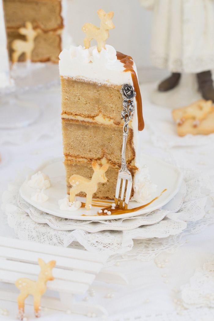 Eierlikor Torte Mit Gebraunter Butter Safran Karamell Und Viel Liebe Rezept Weihnachtsrezepte Kuchen Ohne Backen Und Beste Kuchen