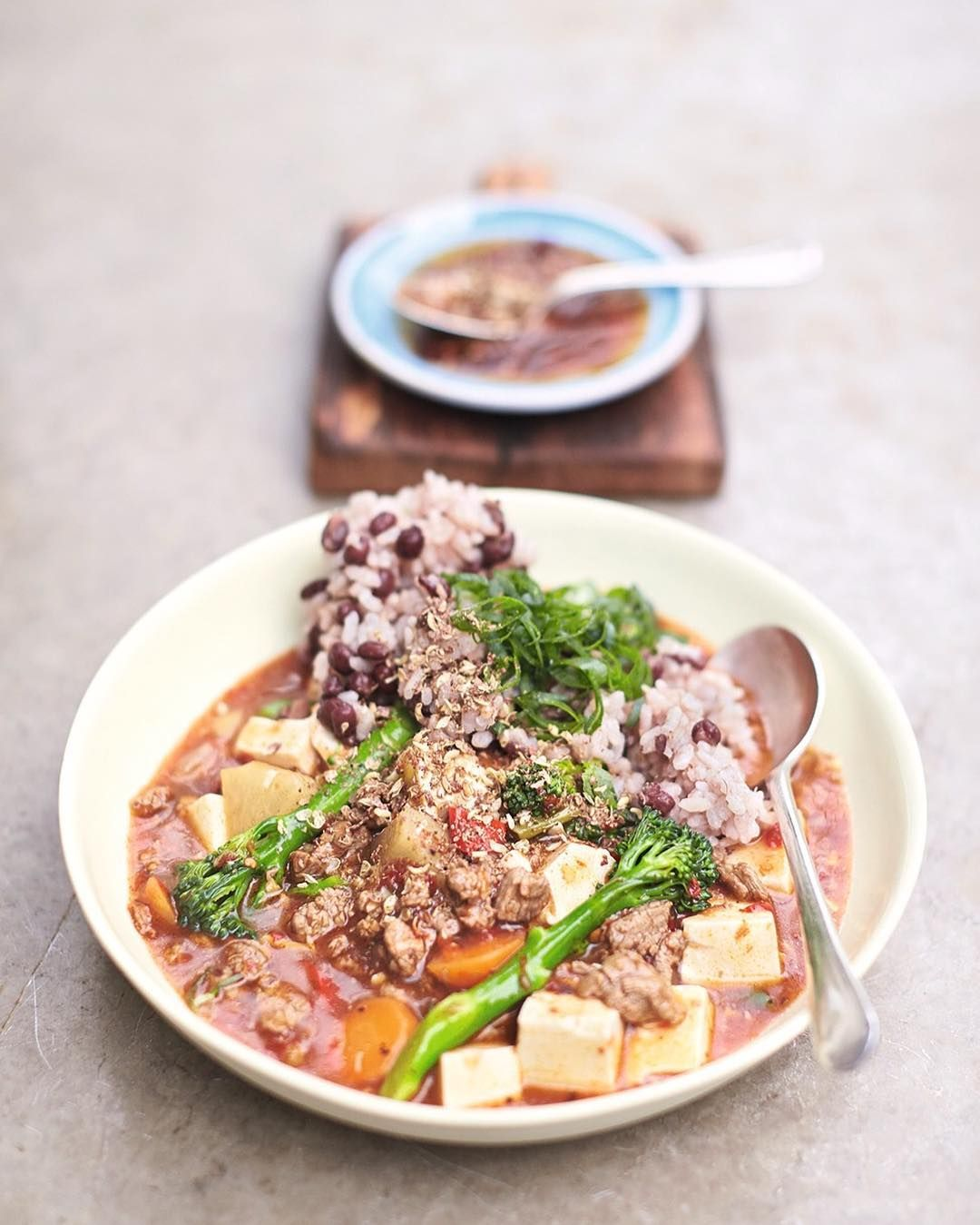 A little dish from my super food family classics book out now im a little dish from my super food family classics book out now im cooking chinese steak and tofu stew with a szechuan sprinkle on jamies super food forumfinder Images
