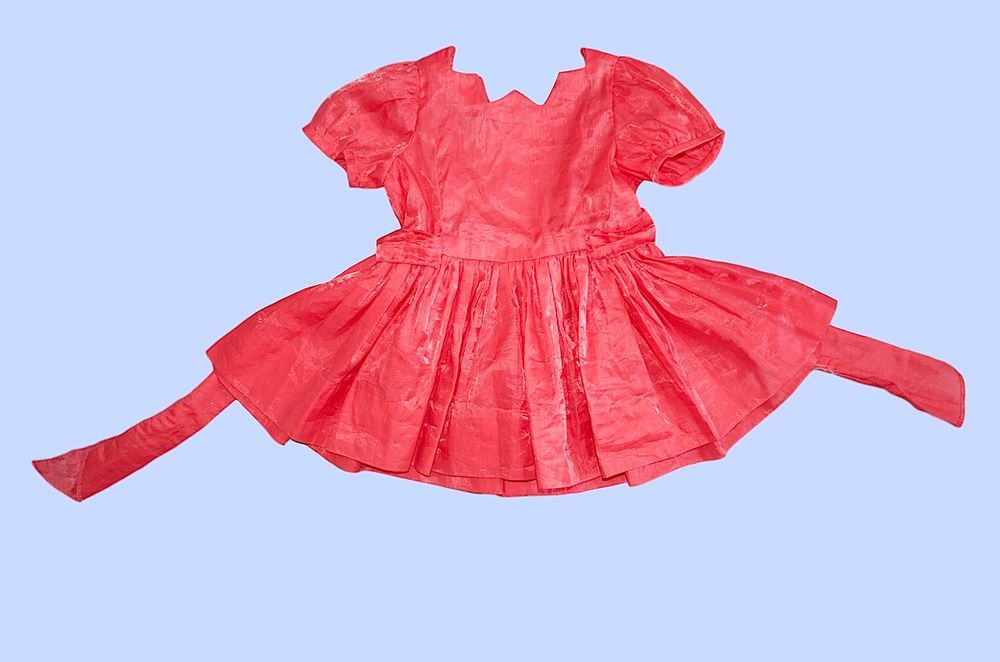 1950s handmade hot pink party dress for 1-year-old child