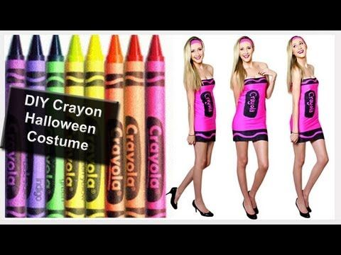 diy easy crayon halloween costume form carly cristman make it this morning and wear - Crayola Halloween Costumes