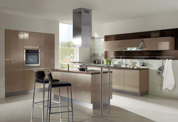 Braune Küche küche in braun kücheninsel designerküche dyk360 kuechen de
