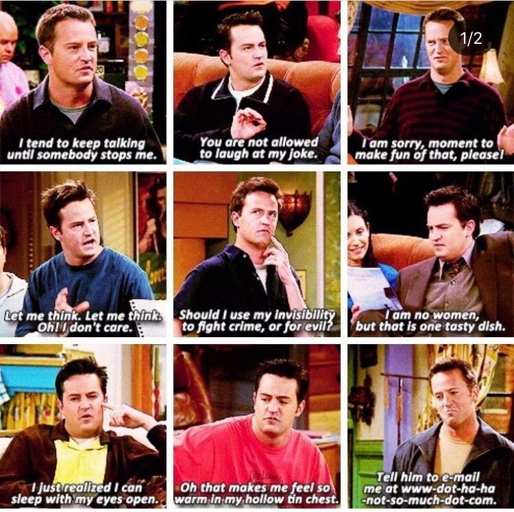 Chandler Bing Quotes Friends Show Quotes Friends Funny Friends Tv