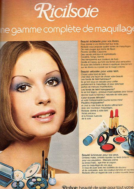 The 1970s 1973 Jours De France Ad 70s Makeup 70s Makeup Look