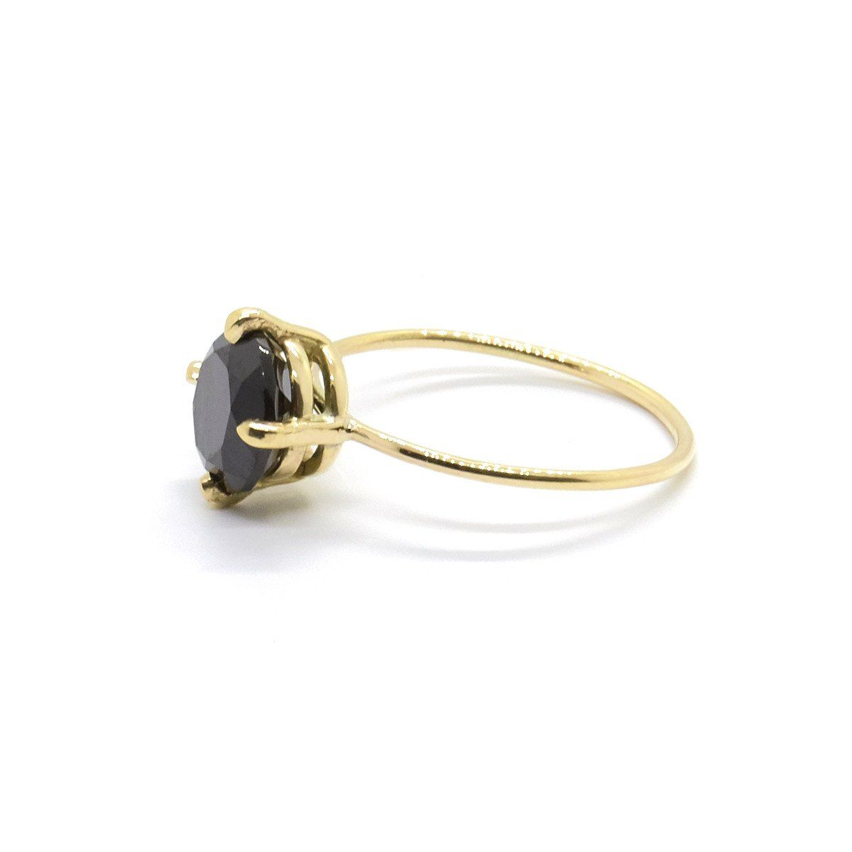 Large Black Stone Ring