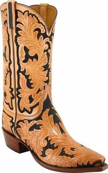 2a9ad46852a Mens Lucchese Classics Hand Tooled Leather Custom Hand-Made Cowboy ...