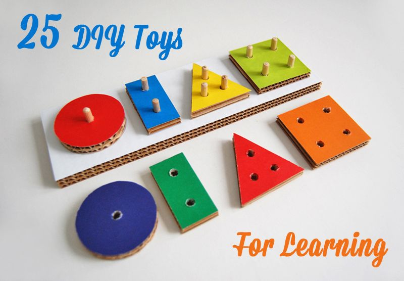 25 Diy Toys For Learning Diy Kids Toys Diy Toys Diy Cardboard