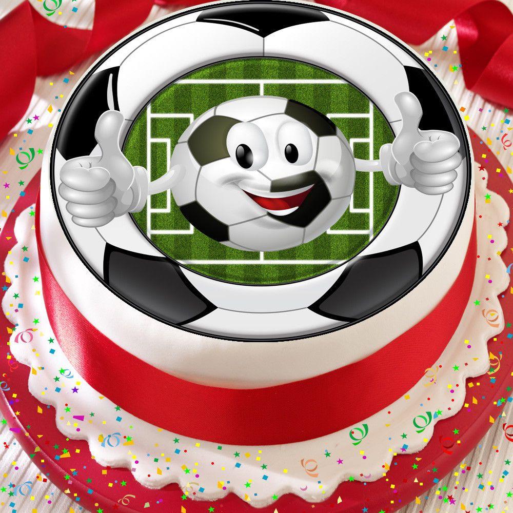 Football emoji soccer 75 inch precut edible birthday cake
