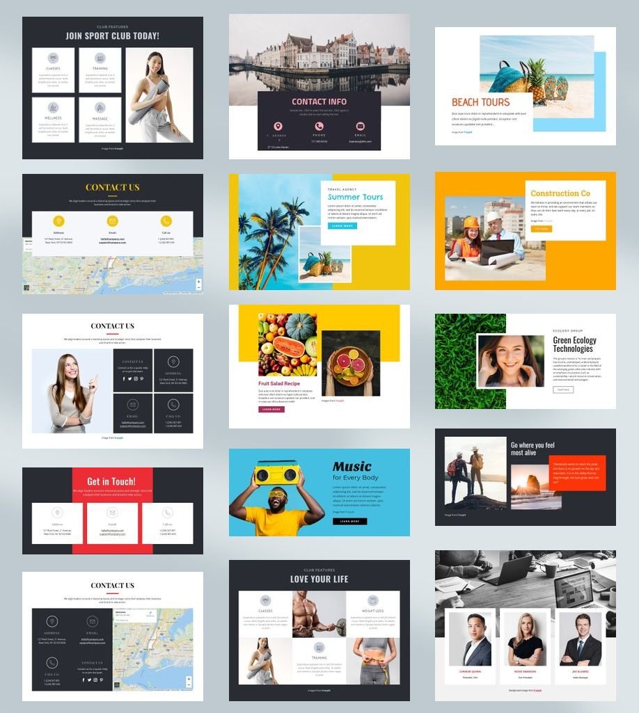 Free Templates by Nicepage Builder   Templates, Template free, Web ...