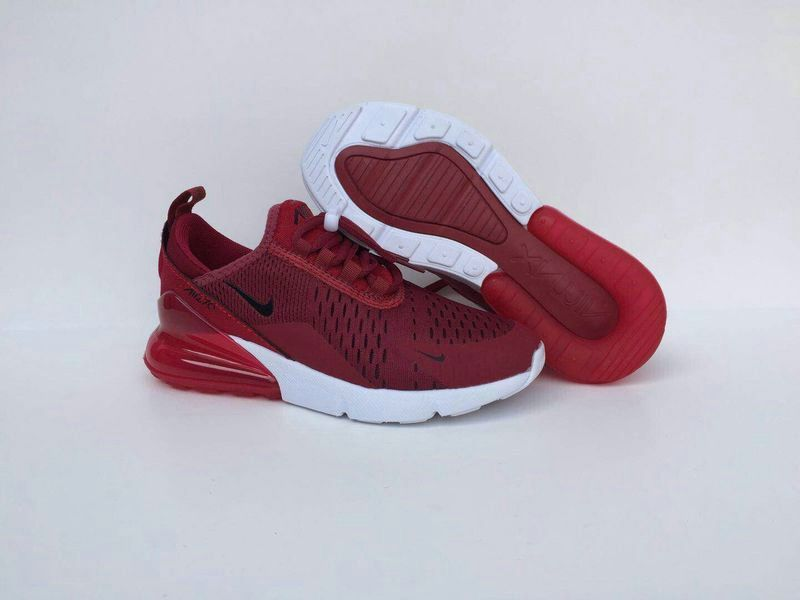 7d14b1e3153c 2018 Original Nike Air Max 270 Kids Wine Red White