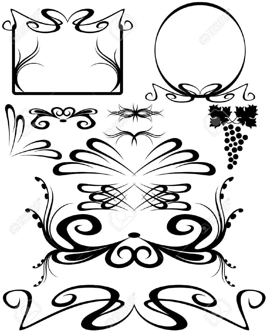 cenefas decorativas orlas tatoo de jordyn libre and royalty marco nouveau wall boarders cliparts stock