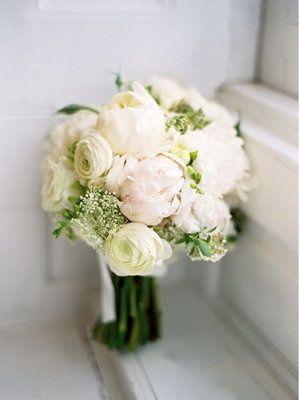classic wedding bouquet but less green