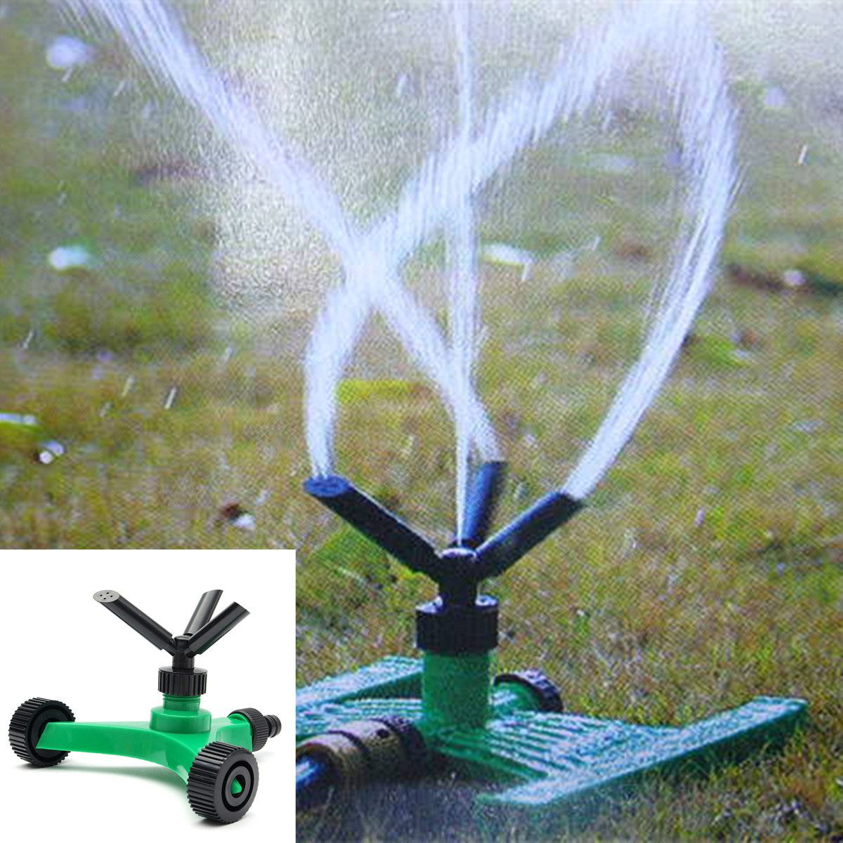 Recomeneded 2pcs 360 Fully Circle Rotating 3 Arm Water Sprinkler Patio Lawn Circular Automatic Garden Sprinklers Lawn Irrigation Practical Tool Gardening Wate Lawn Irrigation Sprinkler Water Saving Gardening