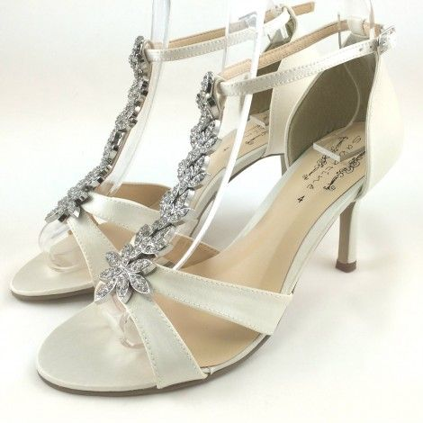 Forest By Sabatine Ivory T Bar Vintage Wedding Or Occasion Shoes Sandals