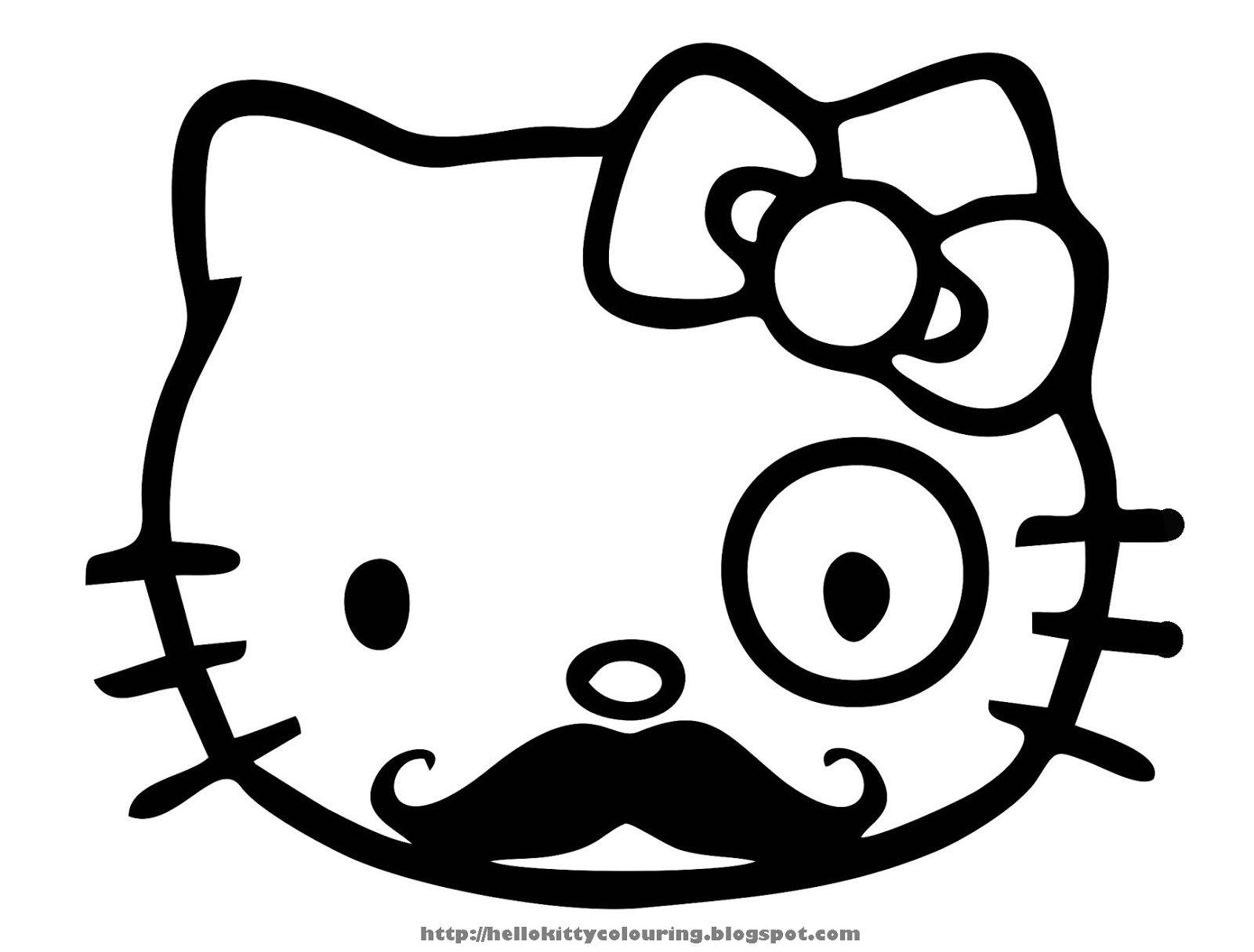 Beau Dessin à Colorier Gratuit Hello Kitty