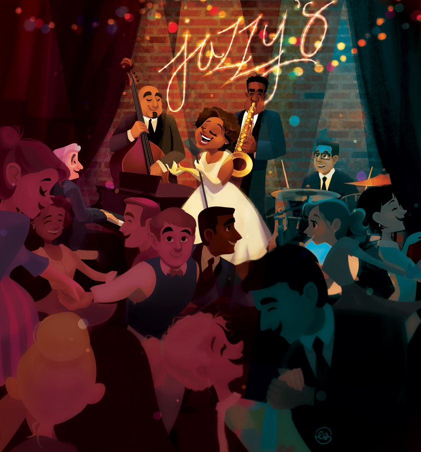 Jazz bar ebony glenn illustration illustration art