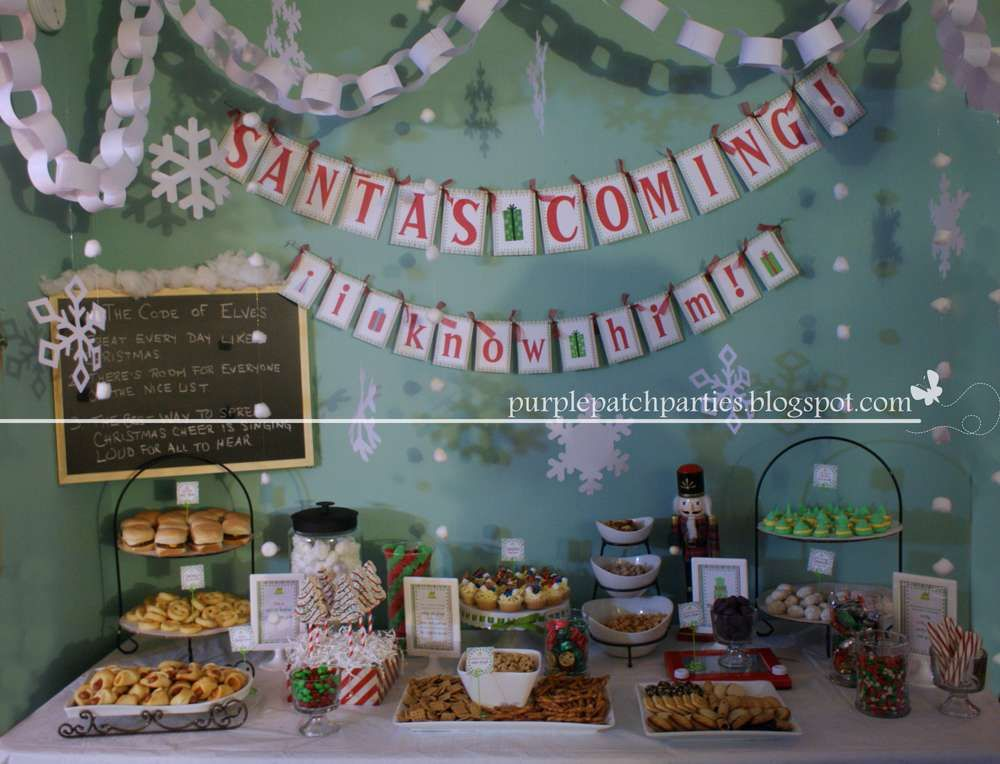 Buddy the Elf Christmas/Holiday Party Ideas Elf Pinterest