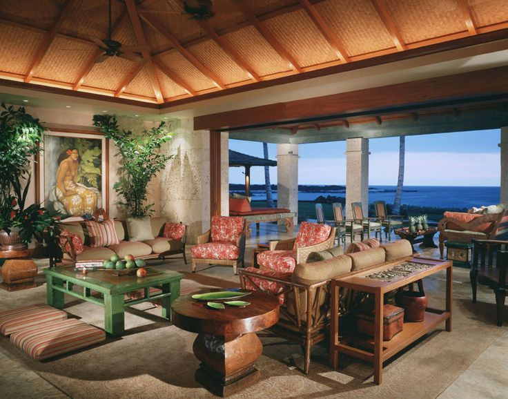 Phil potts designer hawaii philpotts interiors for Hawaiian style architecture