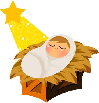 Baby Jesus With Yellow Star Clip Art | Christmas | Pinterest ...