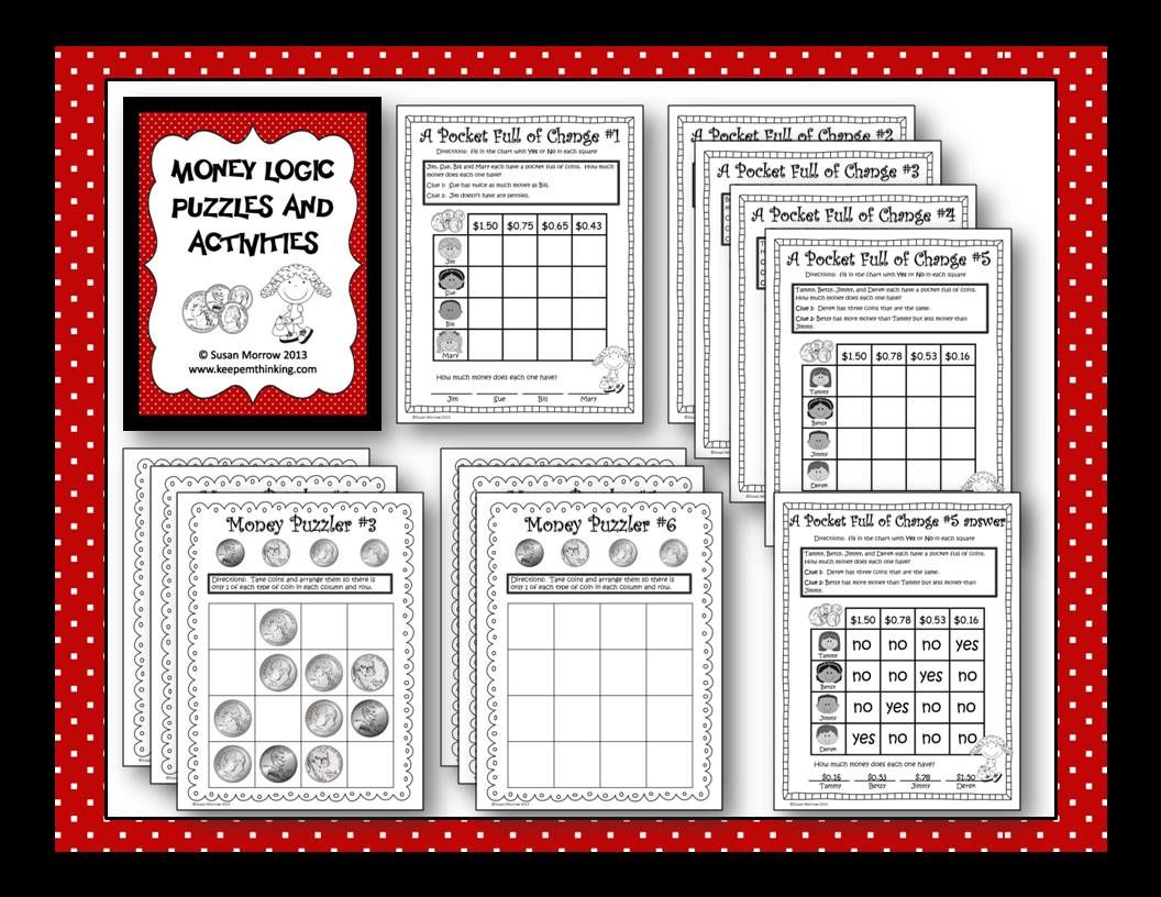 Free Money Logic Puzzles Great For Teaching Deductive