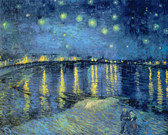 Cross Stitch Patterns By Scarlet Quince Starry Night Vincent