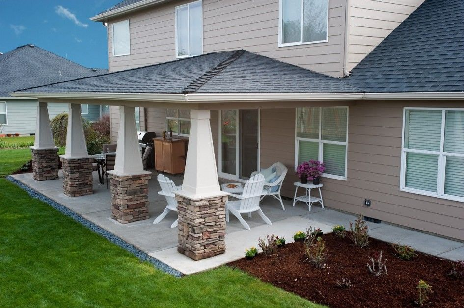 Picturesque Wood Patio Covers Plans with Corrugated Aluminum ...