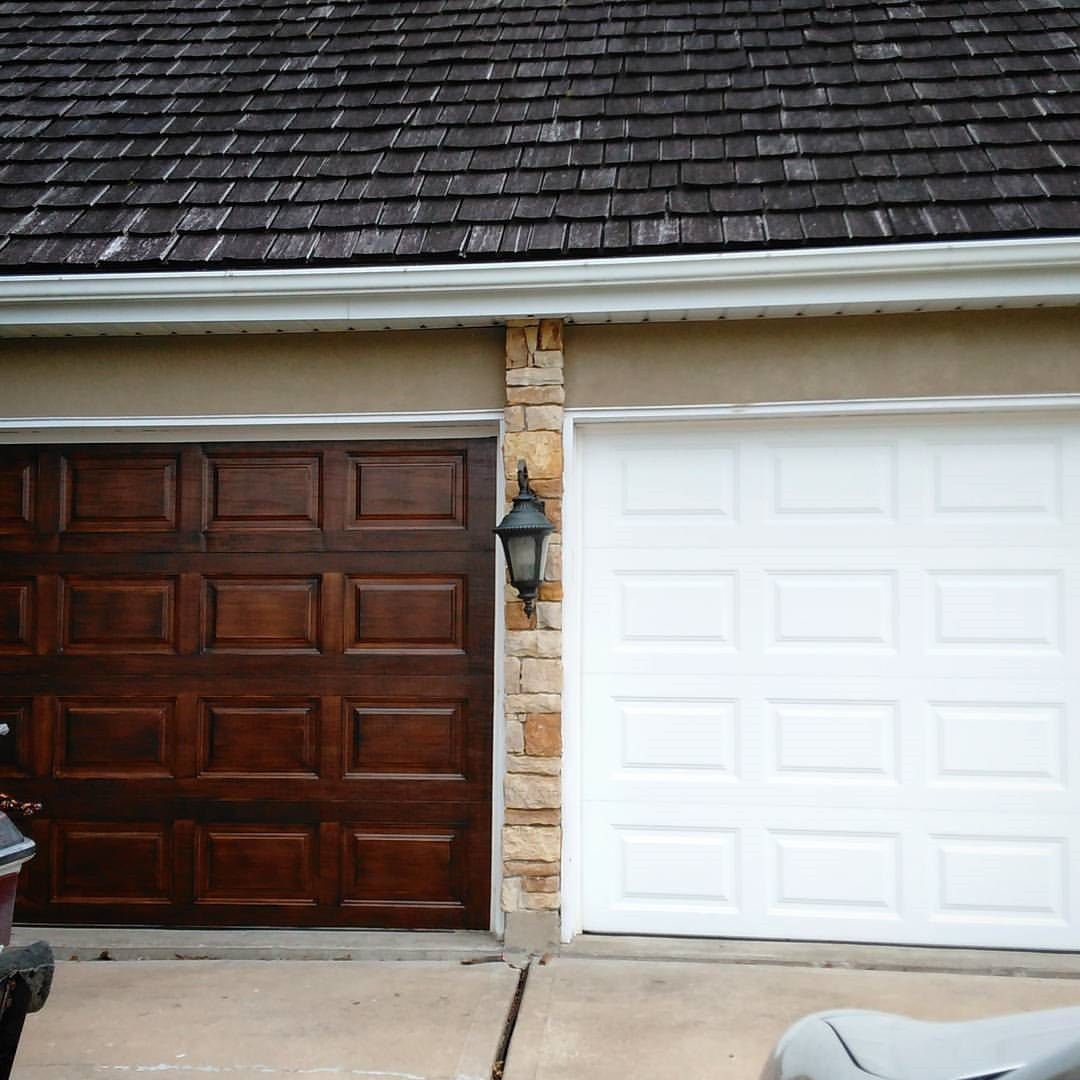Here S How To Faux Paint Garage Doors To Look Real Wood