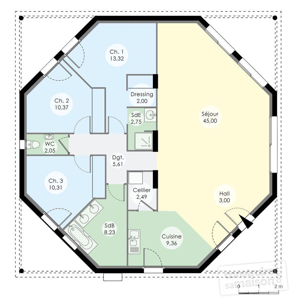 Une maison octogonale originale